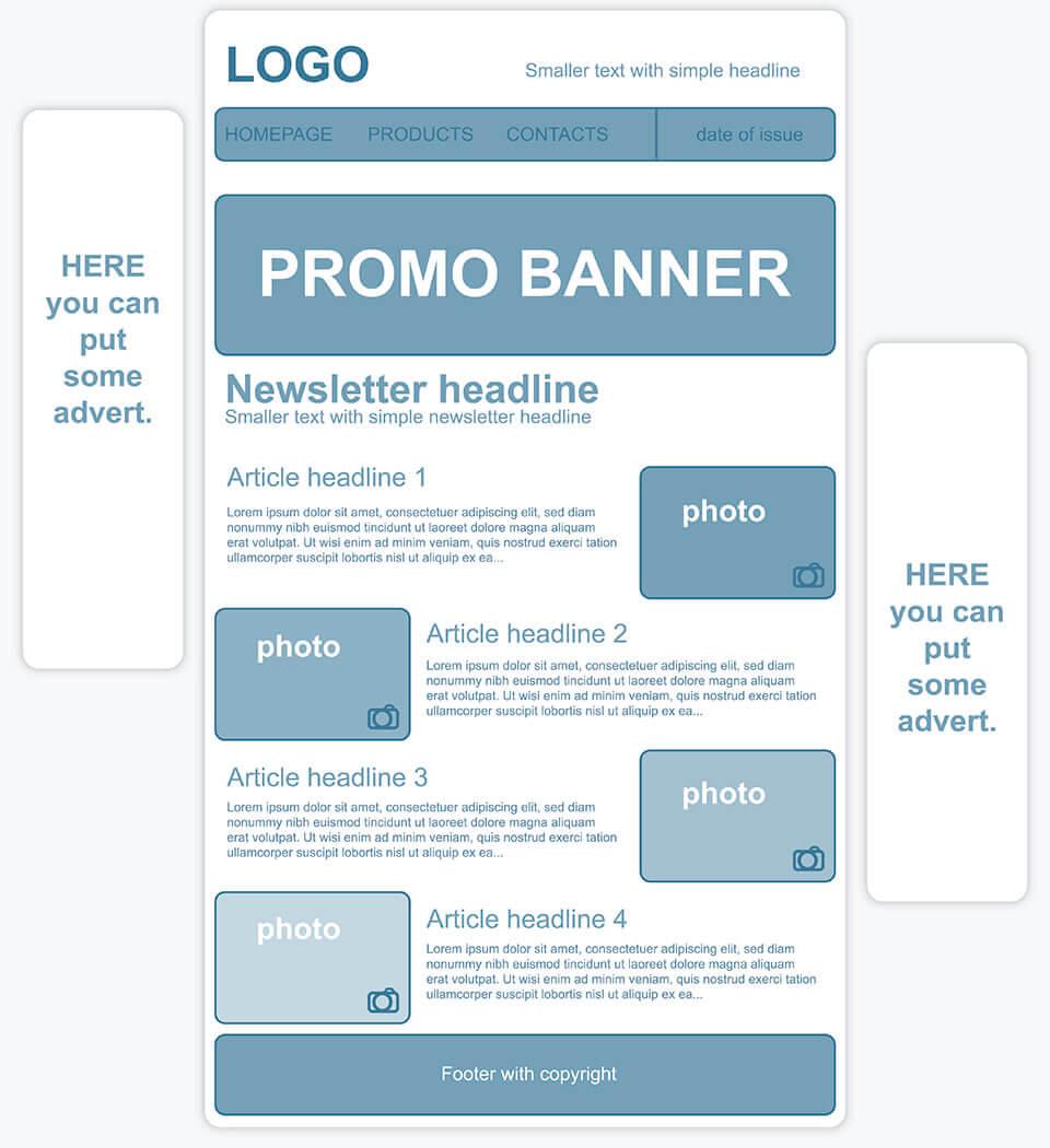 Consejos para crear plantillas para newsletters - 1&1