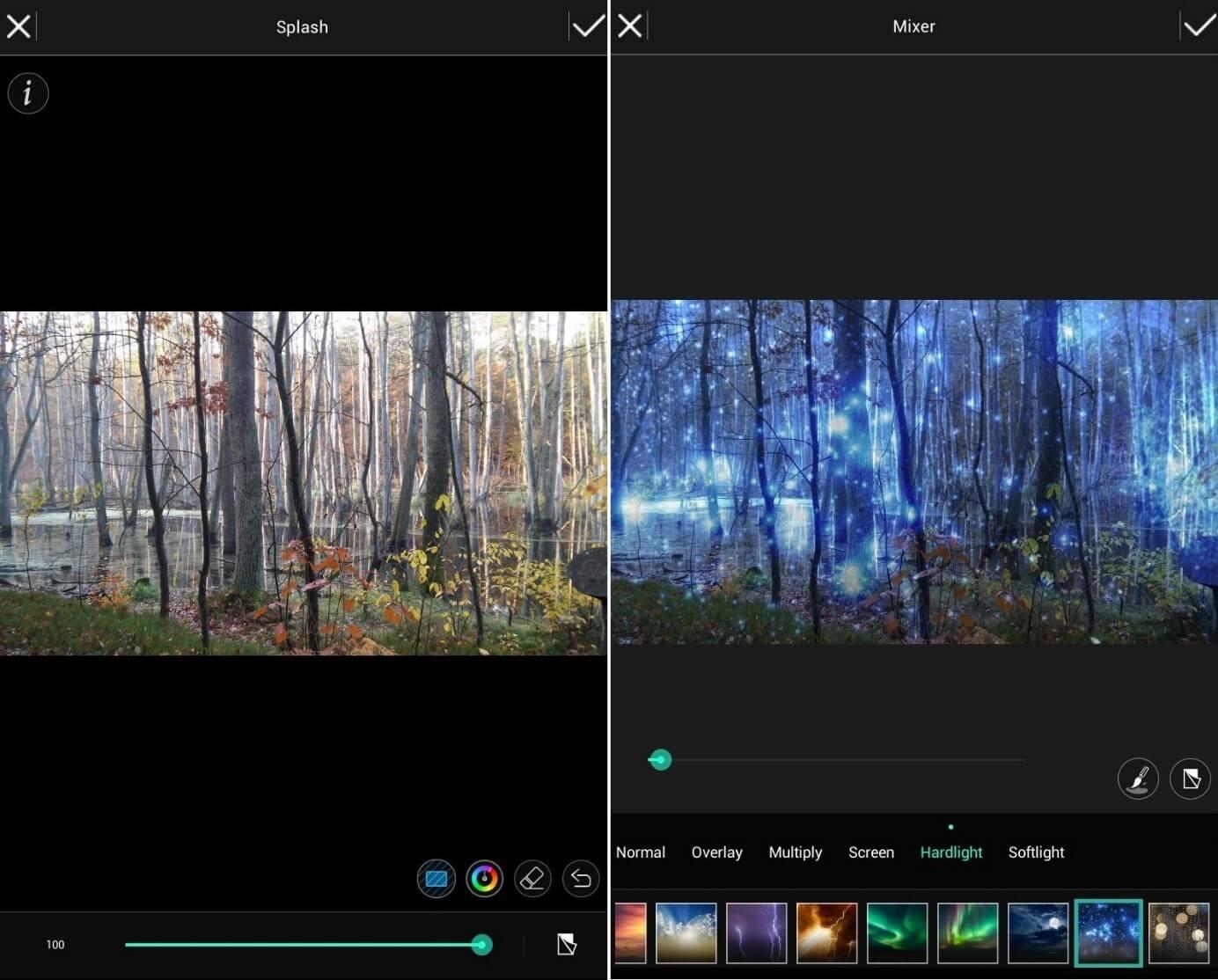 CyberLink PhotoDirector: Interfaz en un dispositivo Android