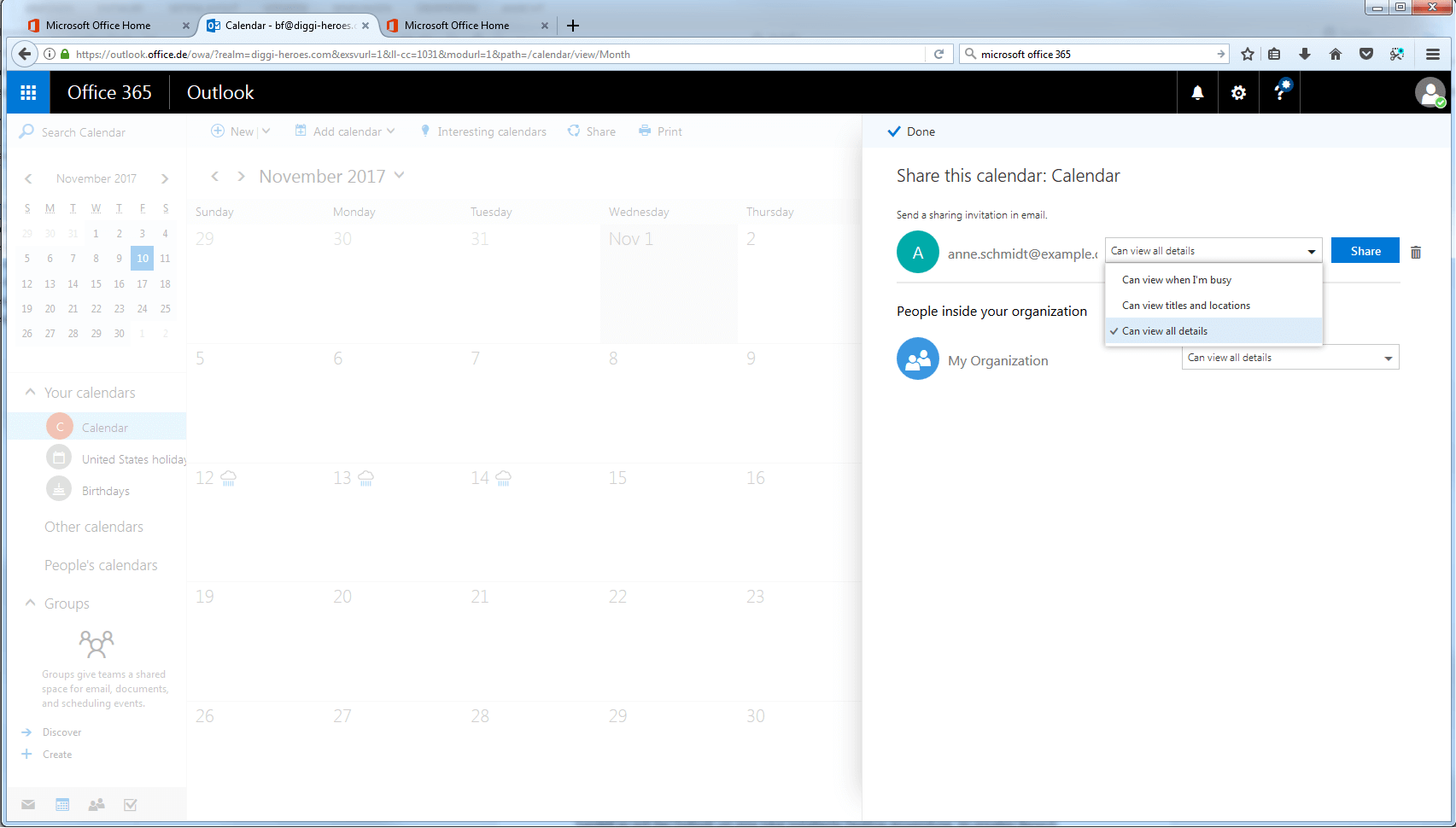 Aprende a compartir el calendario de Outlook - 1&1
