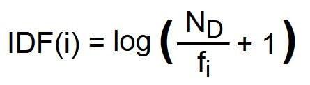 Formel zur Berechnung des Inverse-Document-Frequency-Wert