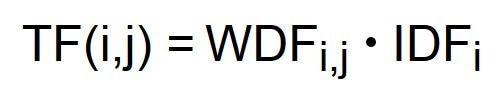 Formel Berechnung zur WDF*IDF