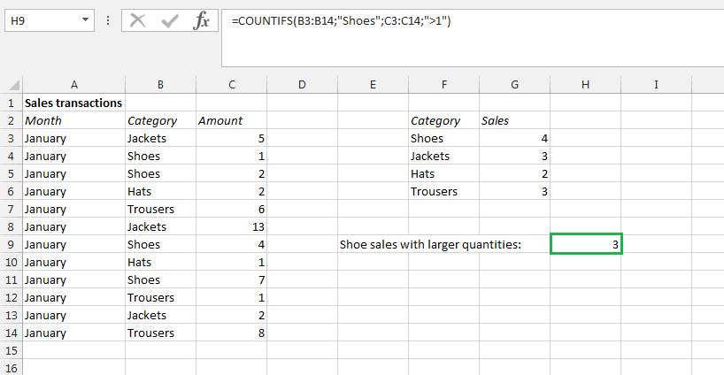 Contarsi En Excel Aplicación Y Función De La Fórmula Ionos