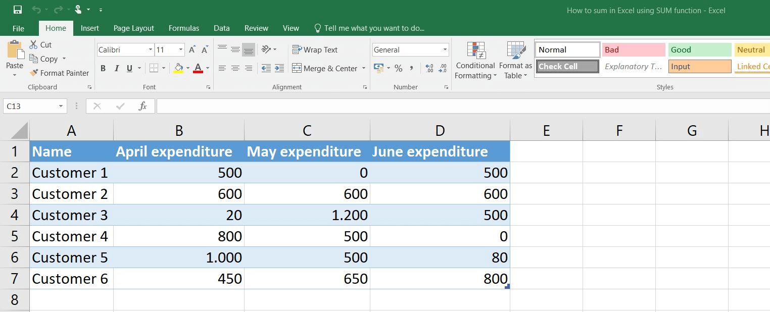 Cómo sumar en Excel [+ejemplo]   IONOS
