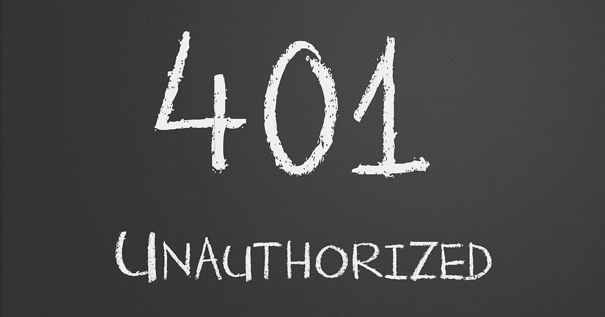 HTTP Error 401 unauthorized | Solucionar el status code 401 - 1&1 IONOS